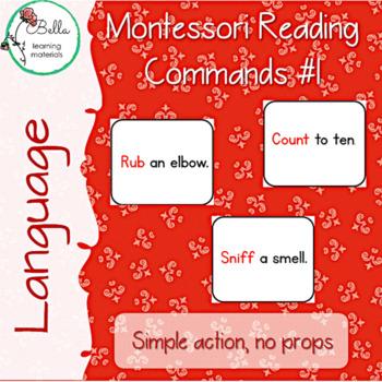 Montessori Reading Commands 1