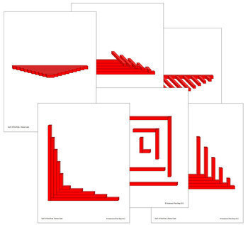 Red Rods & Number Rods Pattern Cards Bundle - Montessori