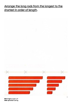 Montessori Red Rods Worksheet