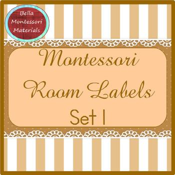 Montessori Room Labels - Set 1