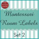 Montessori Room Labels - Set 2