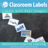 Montessori Classroom Area Labels with Real Images