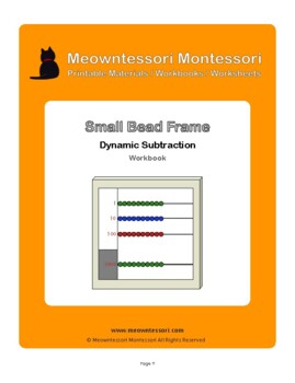 Montessori Small Bead Frame Dynamic Subtraction Workbook