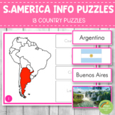 Montessori South America Country Facts Puzzles
