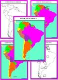 Montessori South America Geography Maps