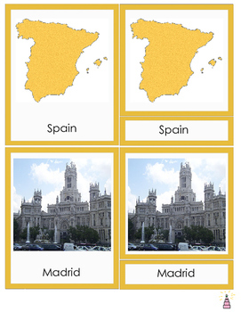 Spain Montessori 3-part Cards