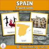 Spain Montessori 3-part Cards