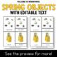 Montessori Spring 3 Part Cards