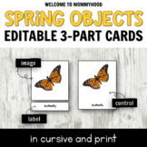 Montessori Spring 3 Part Cards