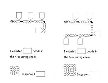 Montessori Squaring Chains Skip Counting Book