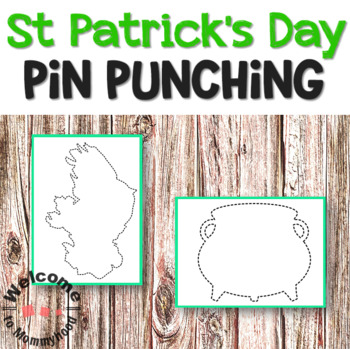 Montessori St Patrick's Day Pin Punching Printables