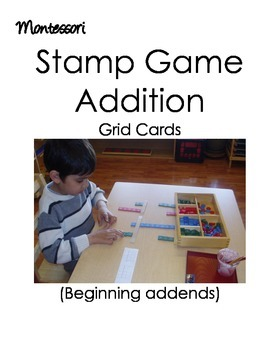 Montessori Stamp Game (Addition)