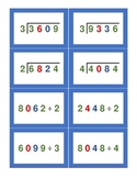 Montessori Stamp Game Division Cards
