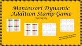 Montessori Stamp Game Dynamic Addition (regrouping)