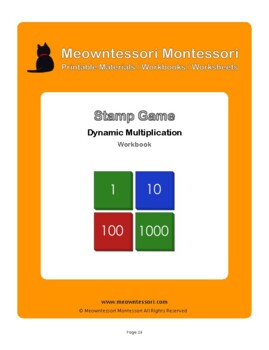 Montessori Stamp Game Dynamic Multiplication Workbook