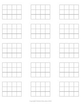 Montessori Stamp Game Grid Paper