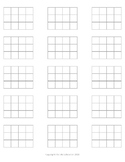 Montessori Stamp Game Grid Paper