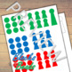 Montessori Stamp Game Stamps + Grid Paper