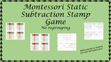 Montessori Stamp Game Static Subtraction ( no regrouping)