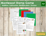 Stamp Game with Full Instructions - Montessori