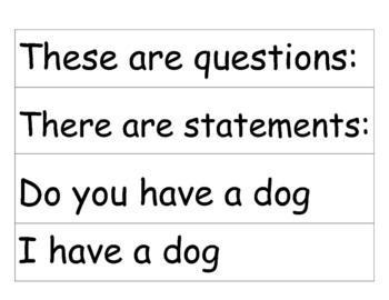 Montessori Statement / Question Cards to sort