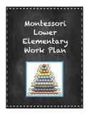 Montessori Student Work Plan