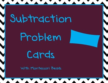 Montessori Subtraction Cards- Subtract Within 100