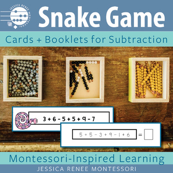 Montessori Subtraction Snake Game BUNDLE (Easy Assembly)