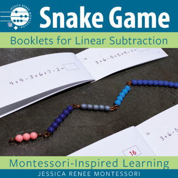 Montessori Subtraction Snake Game Booklets (Easy Assembly)
