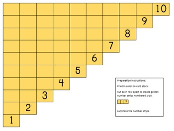 Montessori Subtraction Strips