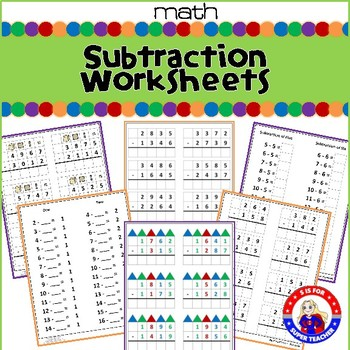Montessori Subtraction Worksheets by S is for Super Teacher | TpT