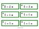 Montessori Subtraction of fraction tickets