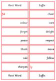 Montessori Suffix Words Card Set