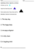 Montessori Symbolizing Noun Family