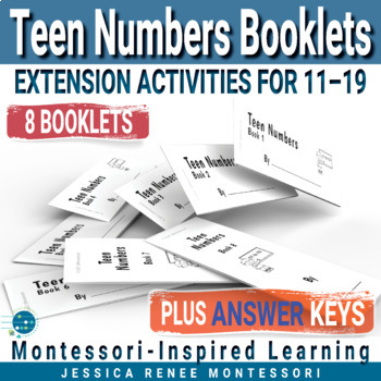 Montessori Math Teen Numbers with the Colored Bead Stair