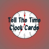 Montessori Tell the Time Clock Cards