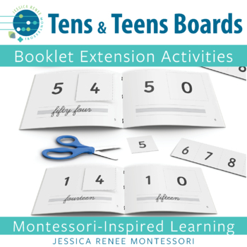 Montessori Ten and Teen Boards Booklets (Easy Assembly)