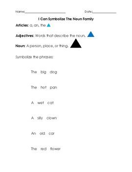 Montessori The Noun Family Worksheet