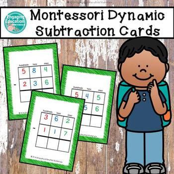 Montessori Three-Digit Dynamic Subtraction Cards