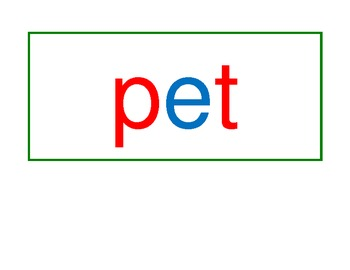 Montessori - Three Letter Phonetic Reading Cards