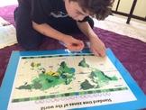 Montessori Time Zone Map and Clocks