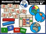 Montessori Tools Clip Art - Whimsy Workshop Teaching