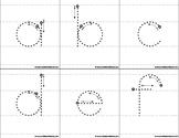 Montessori Tracing big print letters. Single. A to Z