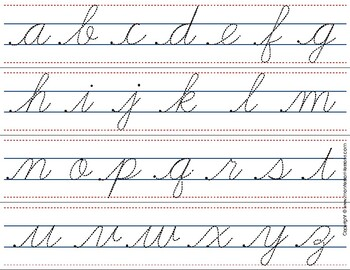 Montessori Tracing small cursive letters in one letter ...