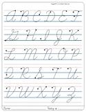 Montessori Tracing small cursive letters in one letter pag
