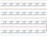 Montessori Tracing strips small cursive letters.