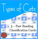 Montessori - Types of Cats 3 - Part Cards