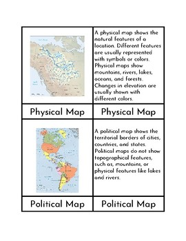 Types of Maps - Three/Four Part Cards