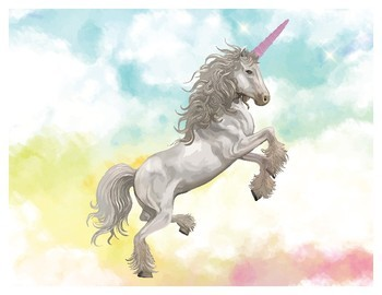 "Montessori Unicorn Teacher Gift, 8"" x 10"" Printable Art, Quirky Gift"