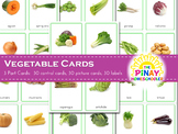Montessori Vegetables 3 Part Cards